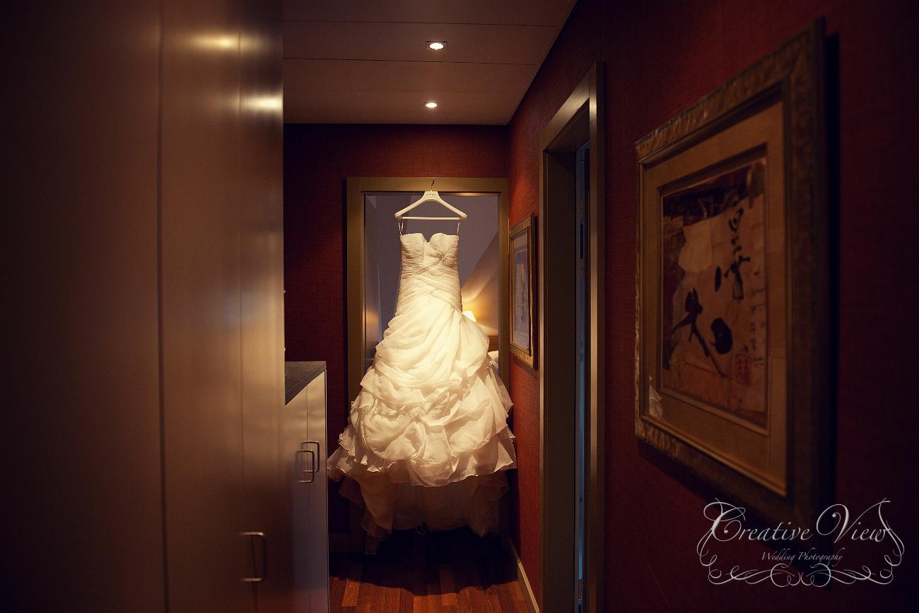 Photos préparatifs des mariés – Parc des Eaux-Vives, Genève